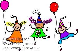 300x199 Children party clipart