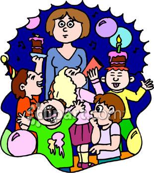 310x350 Kids Birthday Party Clip Art