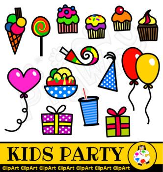 332x350 Kids Birthday Party Clip Art By Prawny Teachers Pay Teachers