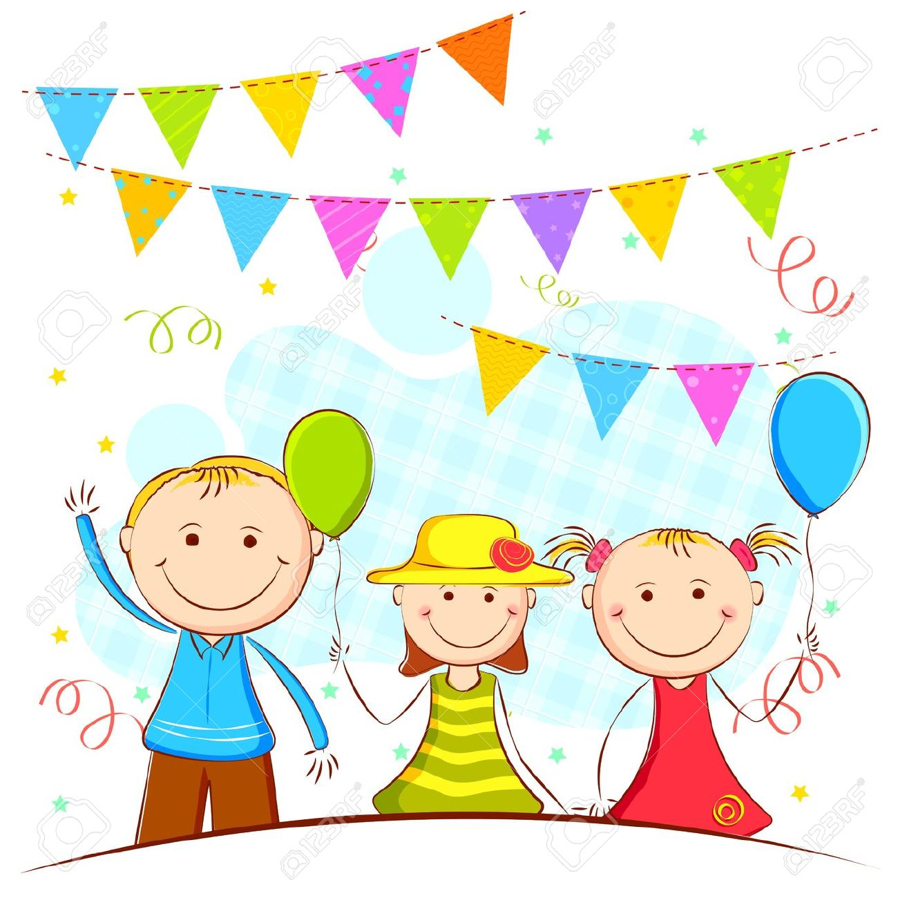 1300x1300 kids party clipart