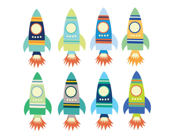 570x456 60% Off Sale Digital Clipart For Boys Space Rocket Clip Art