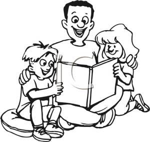 300x283 Children Reading Clip Art Black And White – 101 Clip Art