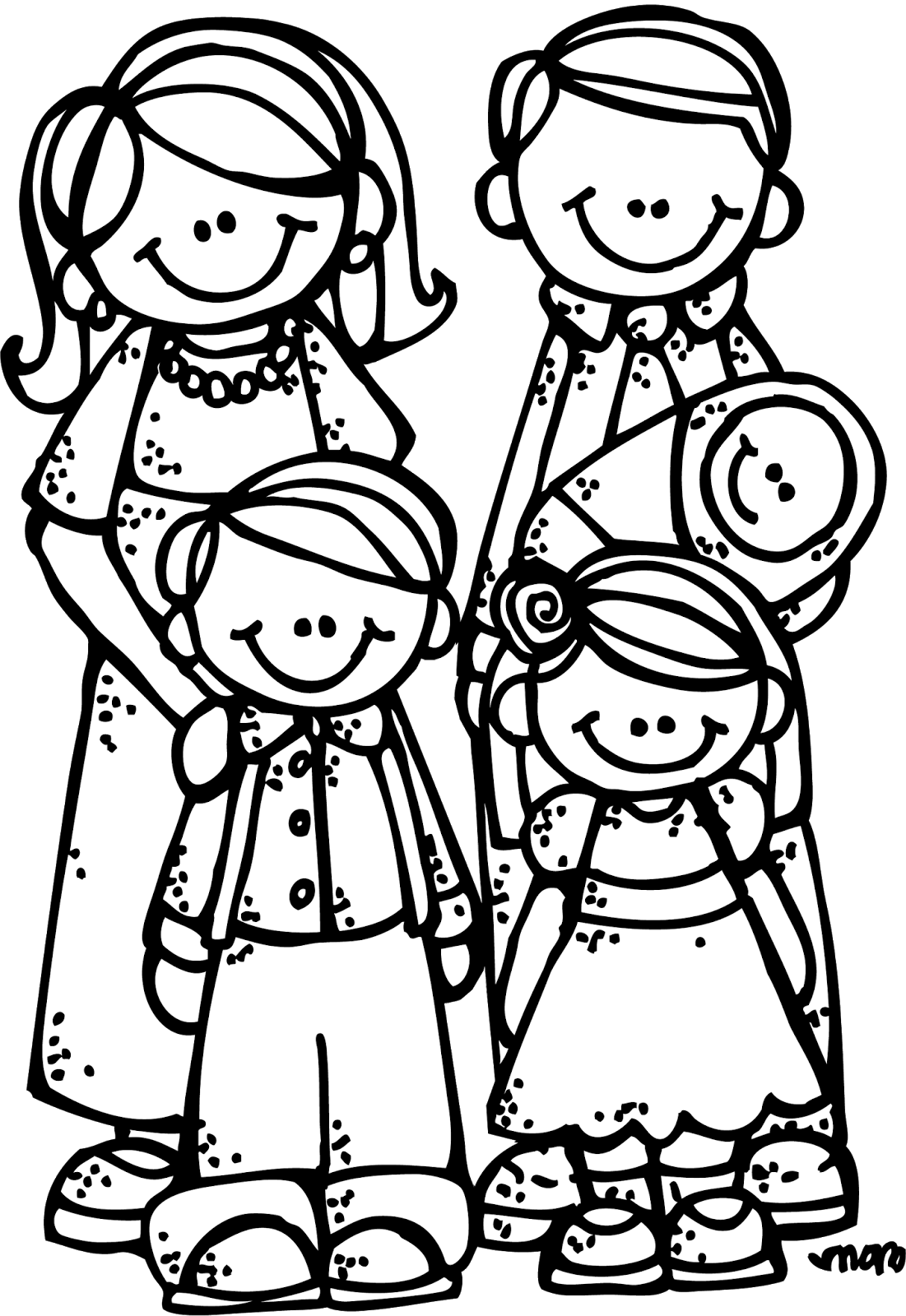 1101x1600 Image Of Family Clipart Black And White