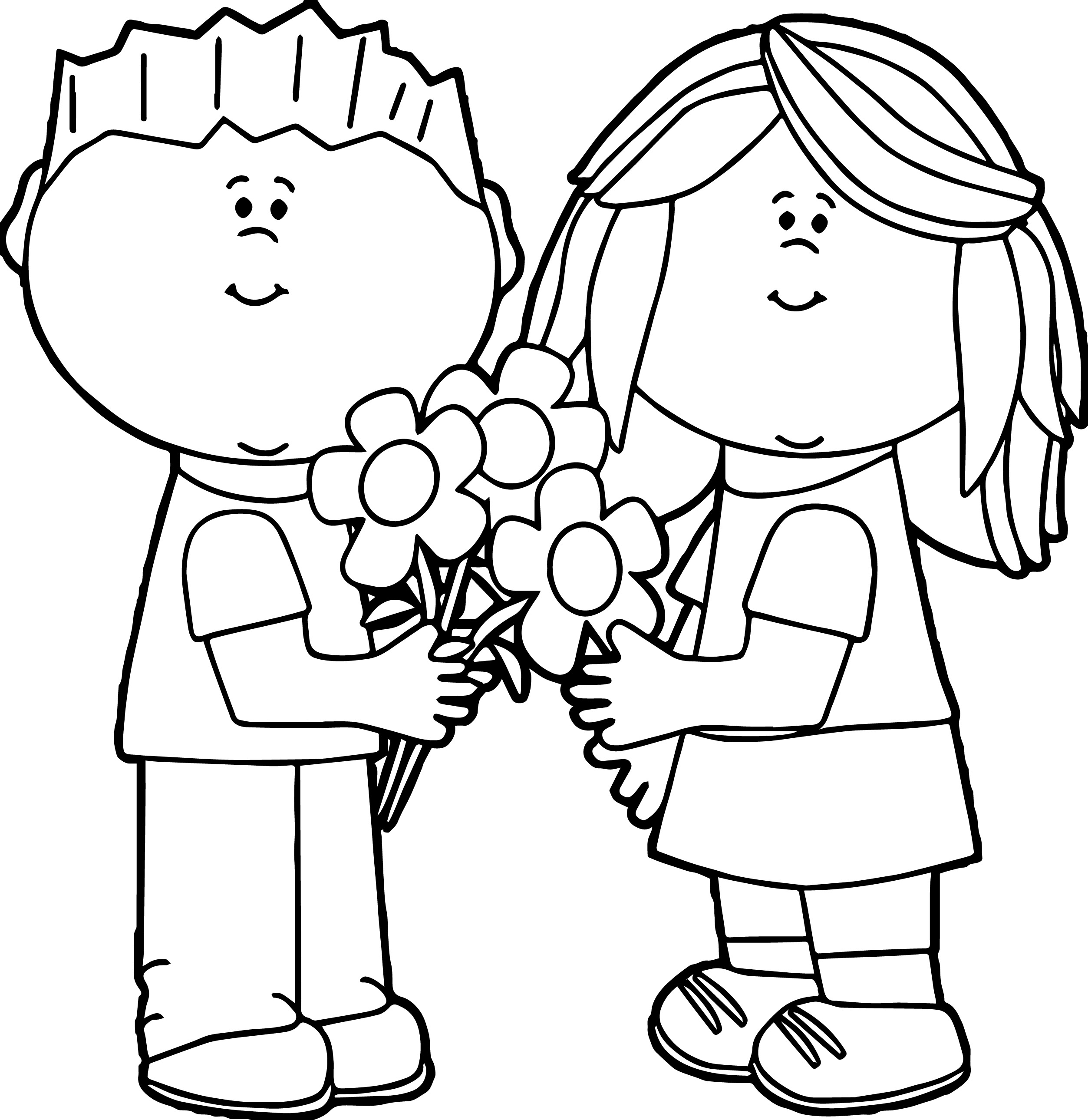 2506x2579 Kids Valentine Clipart Black And White