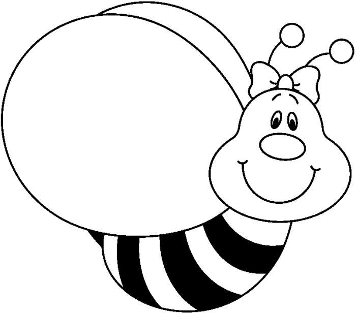 700x616 Bee Clipart For Kids Black And White
