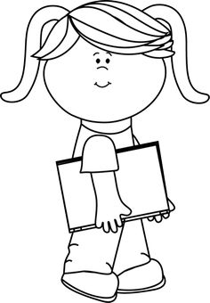 236x340 Children Reading Clip Art Black And White