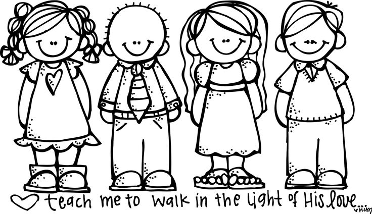736x424 Kids Walking Clipart Black And White