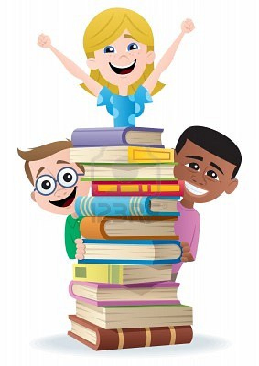 849x1200 Children With Books Clipart