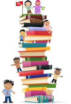 236x346 Clipart Kids With Books