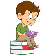 195x191 Student Reading Book Clip Art Clipart
