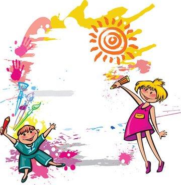360x368 Coolest Children Border Design Cute Kids Border Design Free Vector