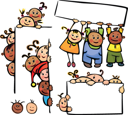 500x447 Cute kids border design free vector download (11,028 Free vector