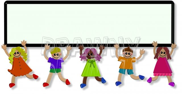 640x330 3d People Clipart Border