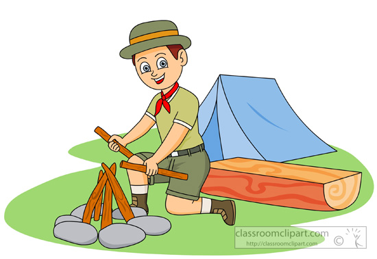 550x379 Camping Boys Camp Out Clipart Kid