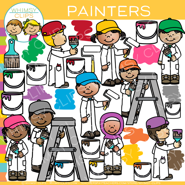 600x600 Kids Painters Clip Art , Images Amp Illustrations Whimsy Clips