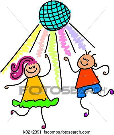 398x470 Clipart Of Dancing Kids K0272391