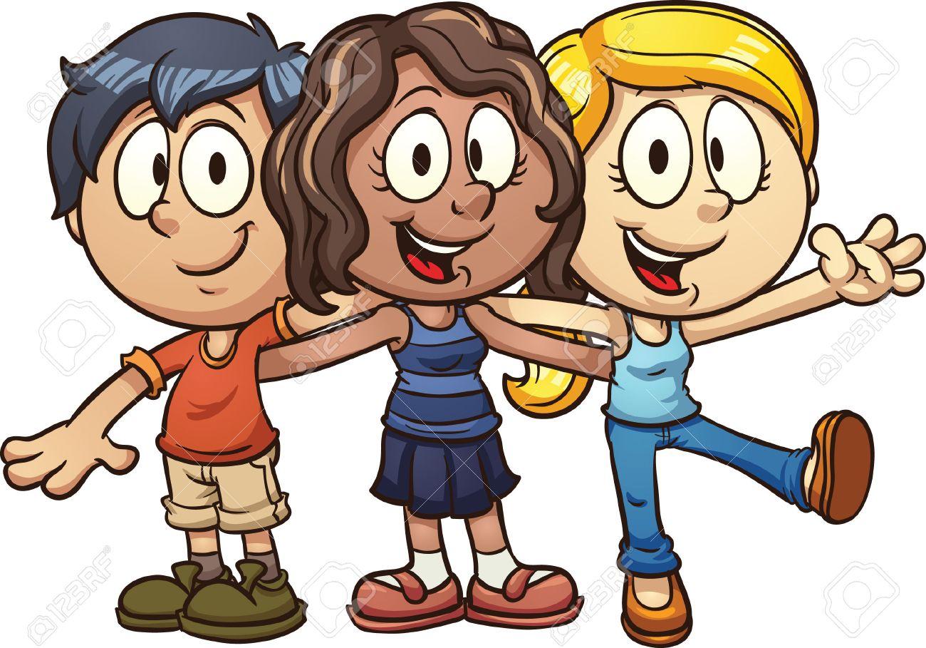 1300x909 Cute Cartoon Kids Vector Clip Art Illustration With Simple