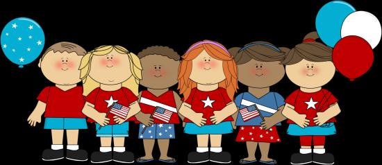 550x238 Patriotic Kids Clip Art
