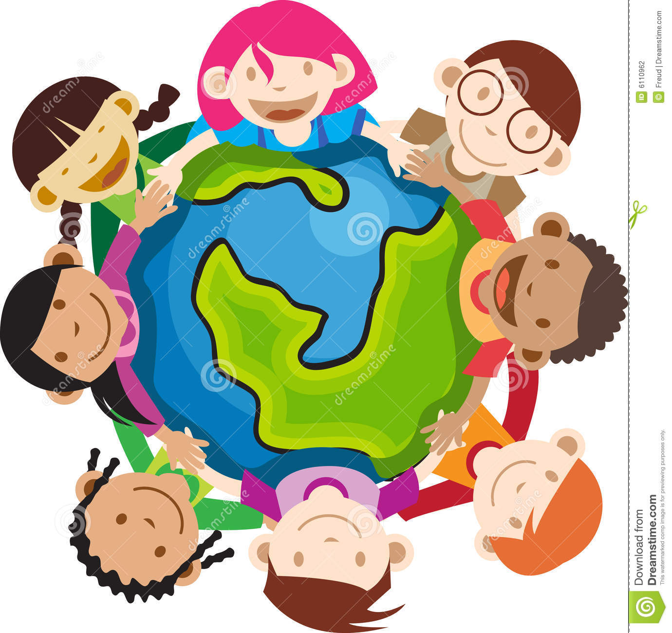 1380x1300 Free Clipart Children Around Globe No Watermark