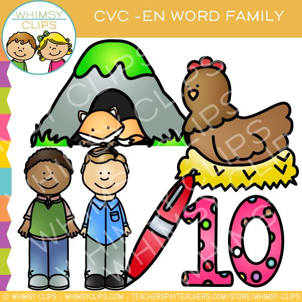 600x600 Cvc En Word Family Clip Art {Volume One} , Images Amp Illustrations