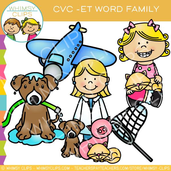 600x600 Cvc Et Word Family Clip Art {Volume One} , Images Amp Illustrations