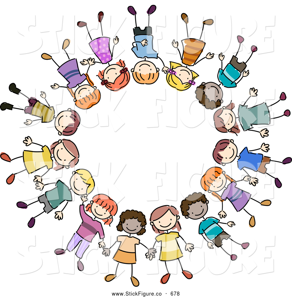 1024x1044 Diverse Children Reading Clip Art