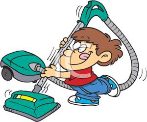 300x248 Kids Vacuuming Clipart