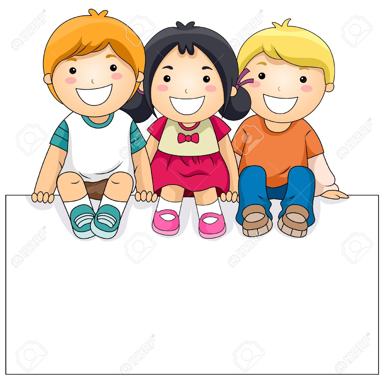 1300x1281 Cartoon kid clipart