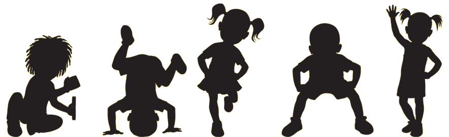 884x270 Free Kids Fitness Clipart Image
