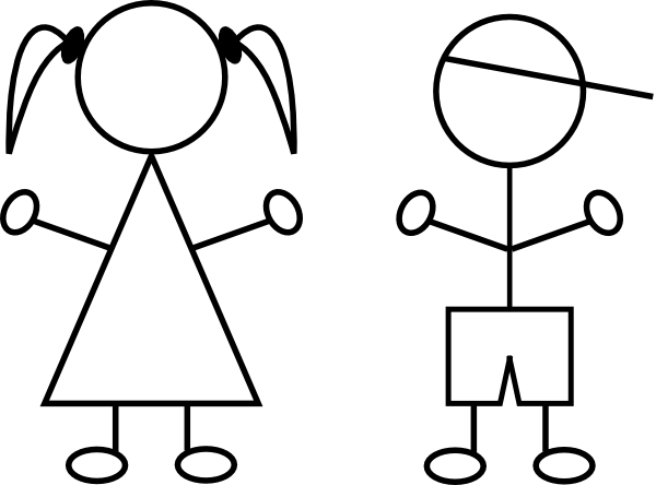 600x444 Kids clip art Free Vector