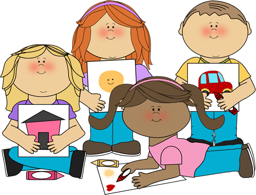 500x381 School Kids Coloring Clip Art
