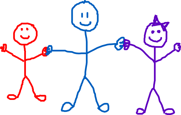 600x381 Stick Figure Kids Clip Art