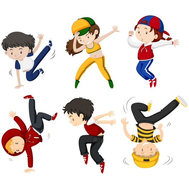 626x626 Kids Dancing Collection Vector Free Download