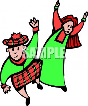 292x350 Scottish Kids Dancing