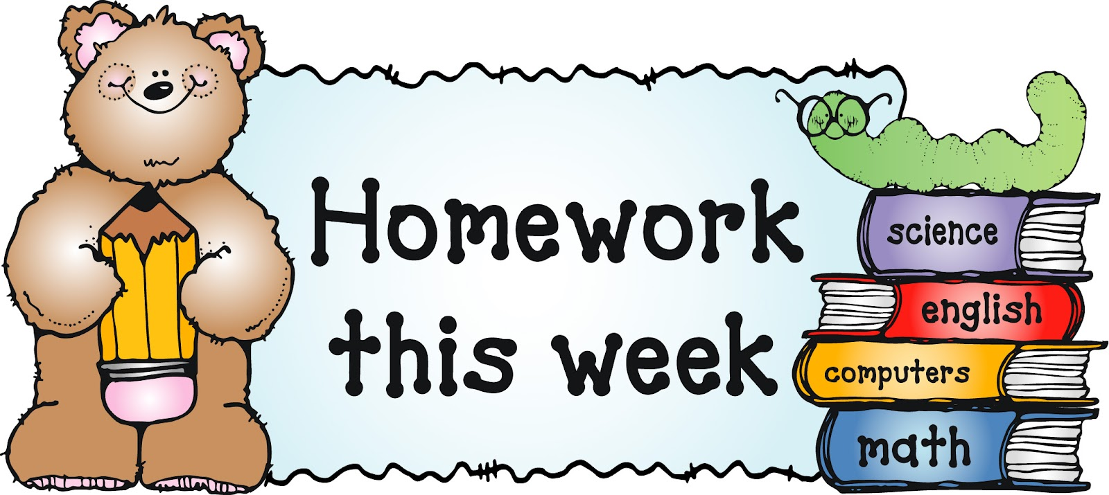1600x715 Homework Clip Art For Kids Clipart Panda