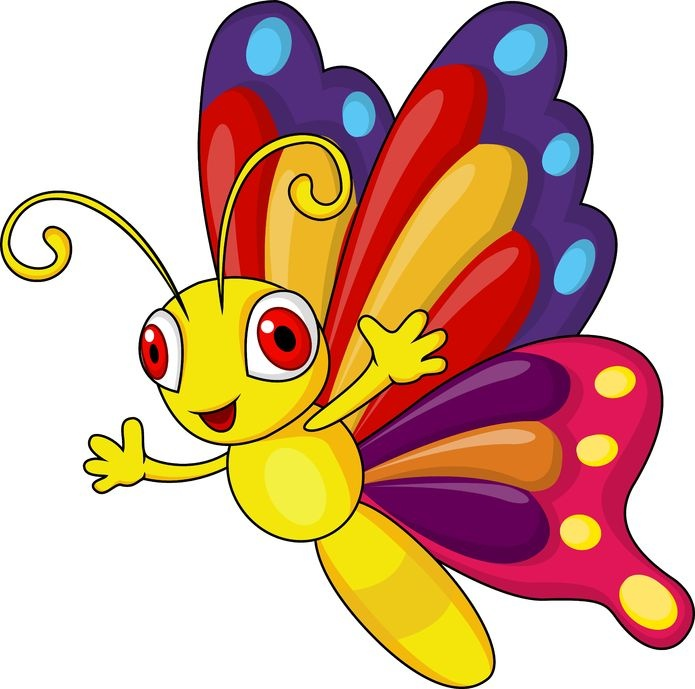 695x689 Butterfly Clipart For Kid