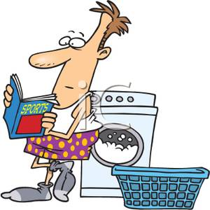 300x300 Doing Laundry Clipart