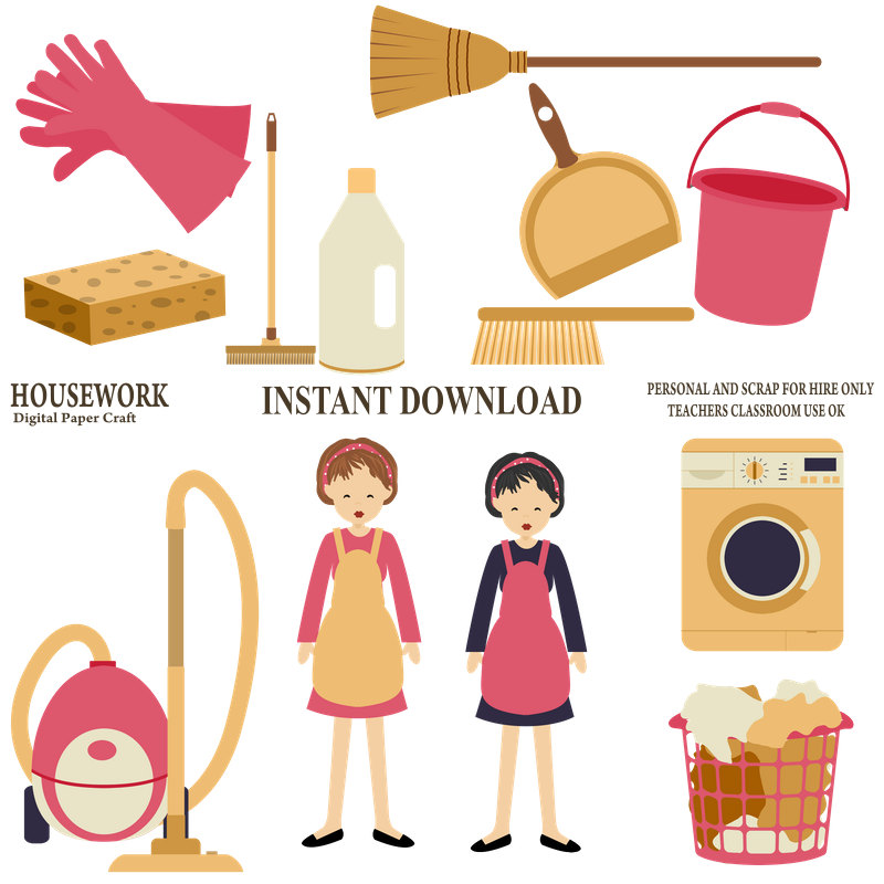 800x800 Housework Clipart Cleaning Clipart Organiser Clipartchores