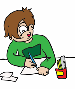 253x300 Homework Clipart Hard Worker