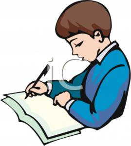 269x300 Clipart Picture Of Boy Writing On Paper