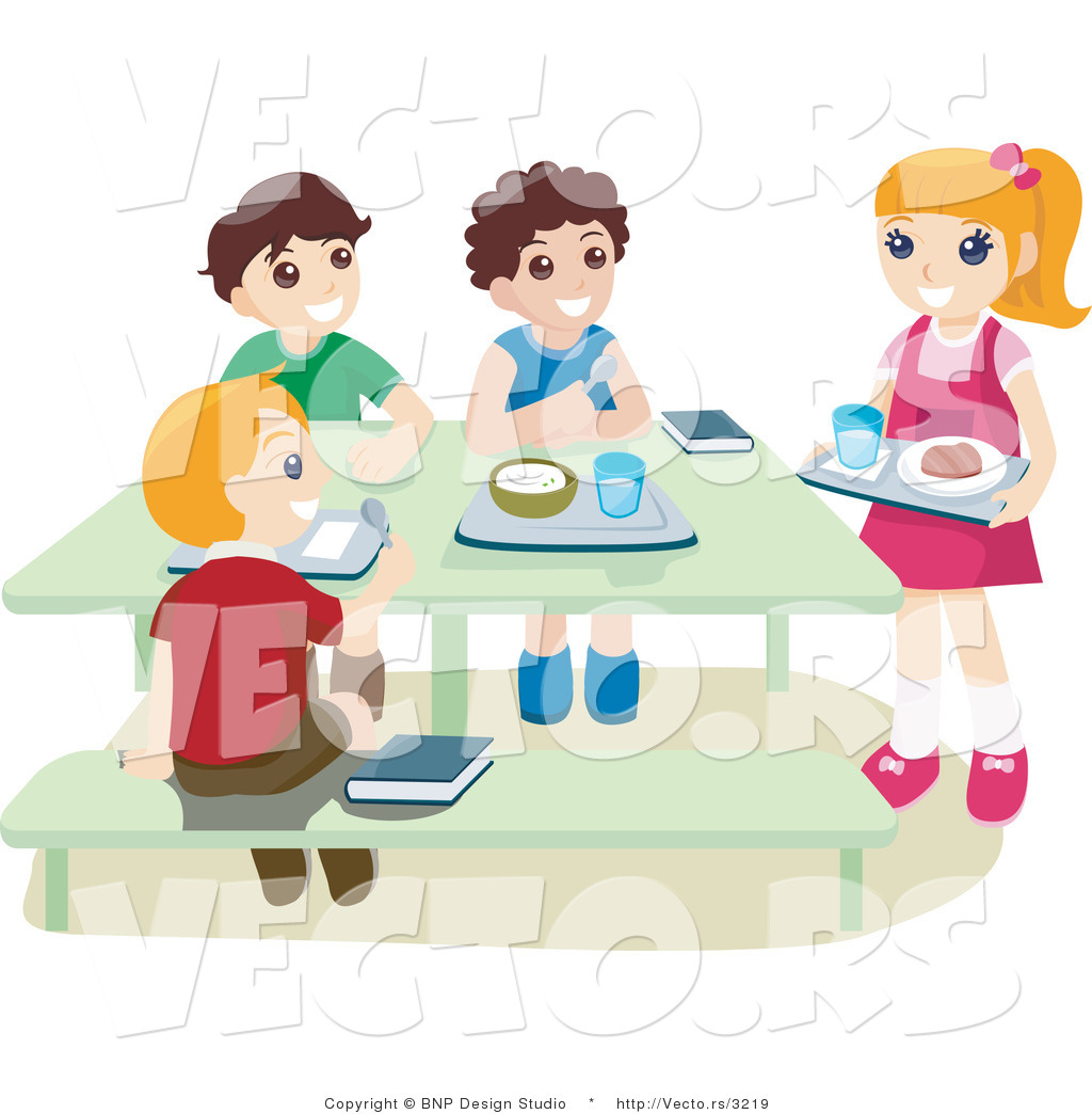 1024x1044 Vector Of School Kids Eating Hot Lunch In A Cafeteria By Bnp