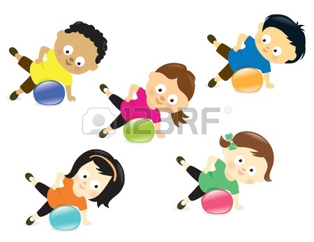 450x347 Kids Exercising Royalty Free Cliparts, Vectors, And Stock
