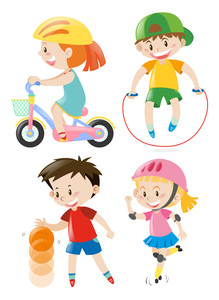 219x300 Kids Doing Different Types Of Sports Illustration Royalty Free