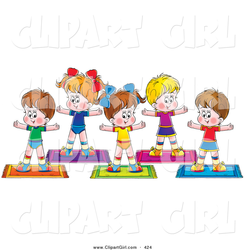1024x1044 Clip Art Kids Exercising