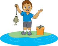 195x154 Fishing Clipart Caught Fish