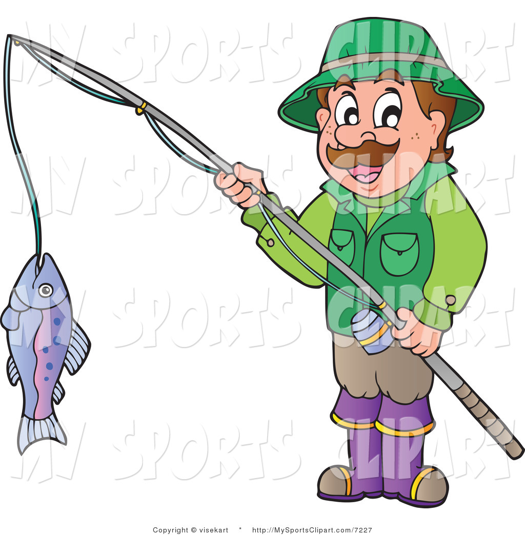1024x1044 Sports Clip Art Of A Man Holding A Fish On A Fishing Pole By