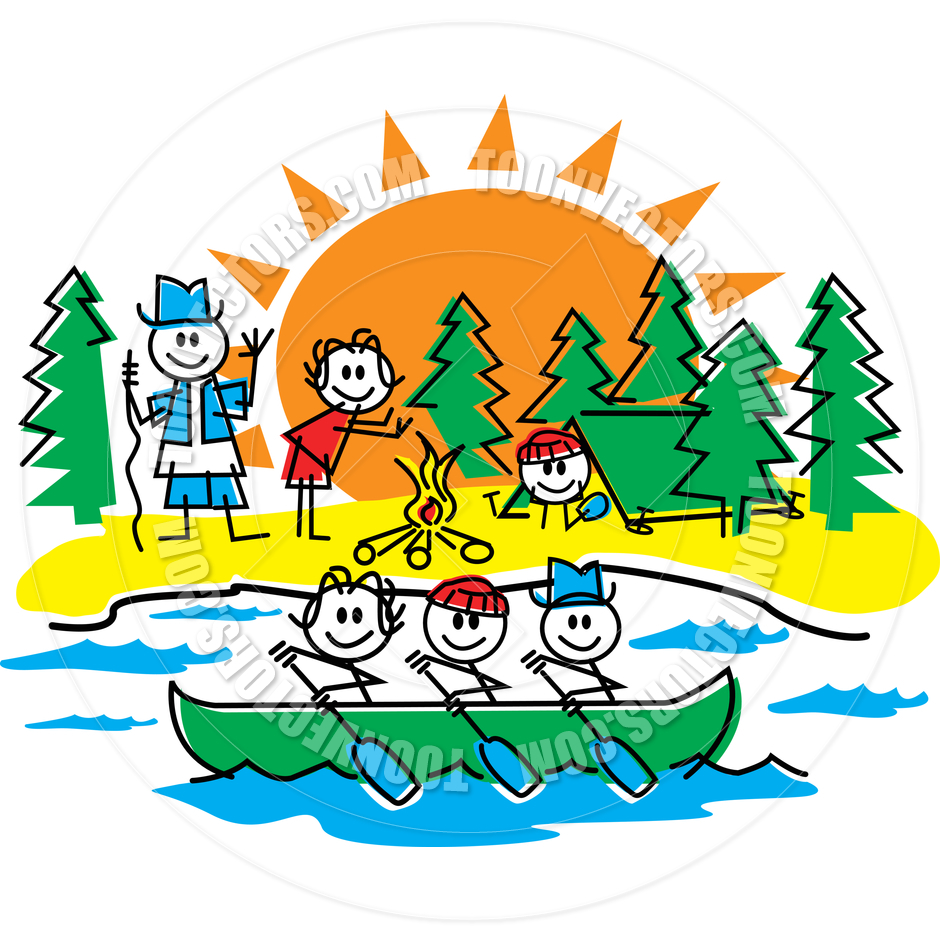 940x940 Cartoon Camping Clipart Kid 3