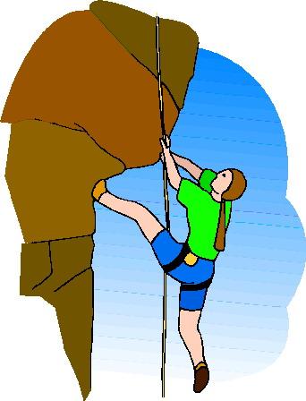 342x448 Rock Climbing Clipart