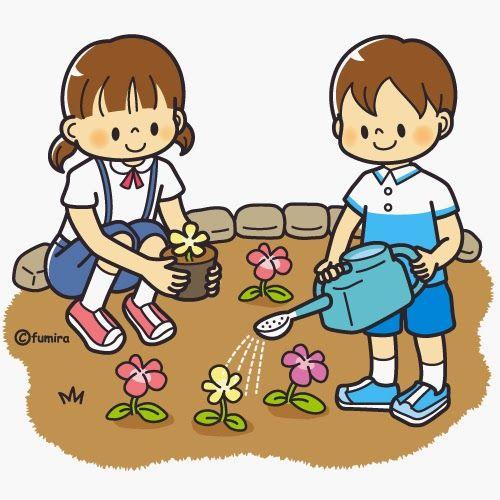 Kids Gardening Clipart