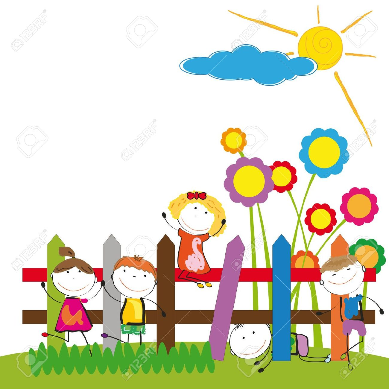 1300x1300 Fence Clipart Child Garden